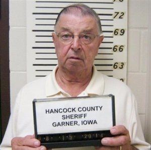 This Aug. 15 2014 photo provided by the Hancock County Sheriff's Department shows Henry Rayhons. The nursing home staff caring for Rayhons' wife, Donna Lou Rayhons, told the former Iowa lawmaker that his wife of seven years was no longer mentally capable of legally consenting to have sex. Prosecutors say that Rayhons did not get the message. Today, he is preparing to stand trial for sexually assaulting his wife, who died last August, days before he was formally charged. (AP Photo/Hancock County Sheriff's Department via The Globe Gazette)