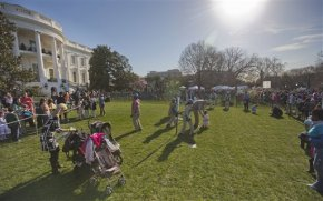 Crowds gather for annual White House Easter eggroll