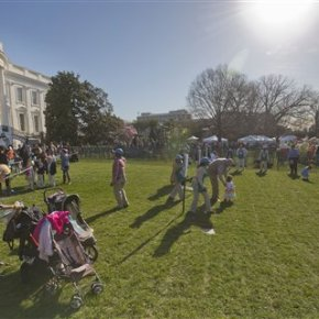 Crowds gather for annual White House Easter egg roll