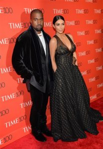 Honoree Kanye West and wife Kim Kardashian attend the TIME 100 Gala, celebrating the 100 most influential people in the world, at the Frederick P. Rose Hall, Time Warner Center on Tuesday, April 21, 2015, in New York. (Photo by Evan Agostini/Invision/AP)