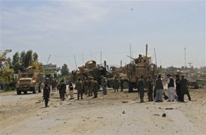 Bombings, including attack on US troops, kill 13Afghans