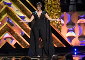 Host Tyra Banks speaks at the 42nd annual Daytime Emmy Awards at Warner Bros. Studios on Sunday, April 26, 2015, in Burbank, Calif. (Photo by Chris Pizzello/Invision/AP)
