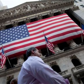 US stock market gains in midday trading