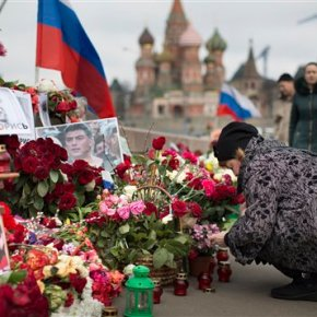 Supporters commemorate Russian politician's murder