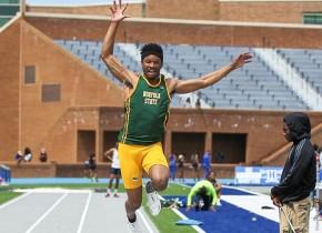 Hines Wins Long Jump at PennRelays