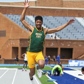 Hines Wins Long Jump at Penn Relays