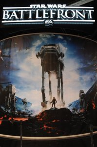 This photo shows the Star Wars: Battlefront video game exhibit at Star Wars Celebration: The Ultimate Fan Experience held at the Anaheim Convention Center on Thursday, April 16, 2015, in Anaheim, Calif.