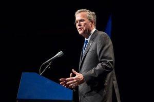 Former Florida Gov. Jeb Bush speaks at a Tennessee Republican Party fundraiser in Nashville, Tenn., on Saturday, May 30, 2015. (AP Photo/Erik Schelzig)