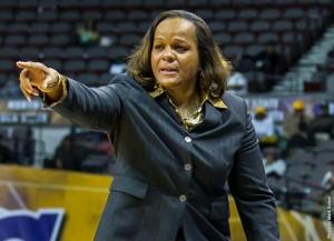 Lady Spartans women's basketball coach Debra Clark