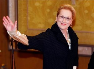 """FILE - In this March 5, 2015, file photo, Actress Meryl Streep arrives for a photocall for her film """"Into the Woods"""" in Tokyo. No actor or actress can match Streep's 19 Academy Award nominations, and only Katharine Hepburn has bested her three Oscars for acting. So maybe it's conceivable that Streep's letter on Tuesday, June 23, to each member of Congress can somehow revive the Equal Rights Amendment, politically dormant since its high-water mark four decades ago. (AP Photo/Shuji Kajiyama, File)"""