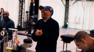 """This 2015 image provided by 2K shows Spike Lee on a video shoot for """"NBA 2K16,"""" in Novato, Calif. Lee's cinematic vision will be infused throughout the single-player mode of """"NBA 2K16."""" The game hits stores on Sept. 29, 2015, featuring a story written and directed by acclaimed filmmaker Spike Lee. (2K via AP)"""