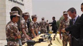 Jordan military unveils border surveillance with Iraq,Syria