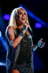 Carrie Underwood performs at LP Field at the CMA Music Festival on Saturday, June 13, 2015, in Nashville, Tenn. (Photo by Al Wagner/Invision/AP)