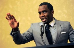 "FILE - In this July 26, 2013 file photo, Sean ""Diddy"" Combs of the new network Revolt TV addresses reporters at the Beverly Hilton Hotel in Beverly Hills, Calif. Police say hip-hop music mogul Combs has been arrested on the campus of the University of California, Los Angeles. UCLA police spokeswoman Nancy Greenstein confirmed that Combs was taken into custody by campus officers on Monday, June 22, 2015. Greenstein did not immediately provide further details. (Photo by Chris Pizzello/Invision/AP, File)"
