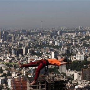 Extreme sport of slacklining gains a foothold inIran