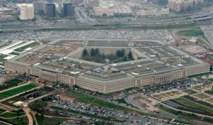 FILE - This March 27, 2008, file photo, shows the Pentagon in Washington. Ali Awni al-Harzi, an Islamic State operative suspected of involvement in the 2012 attack on the U.S. diplomatic outpost in Benghazi, Libya, has been killed in a U.S. airstrike in Iraq, the Pentagon said Monday, June 22, 2015. (AP Photo/Charles Dharapak, File)