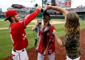 Nationals' Max Scherzer celebrates his no-hitter