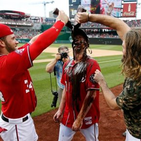 Nationals' Max Scherzer celebrates hisno-hitter