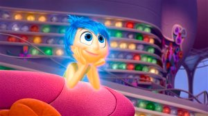 """In this image released by Disney-Pixar, the character Joy, voiced by Amy Poehler, appears in a scene from """"Inside Out."""" (Disney-Pixar via AP)"""