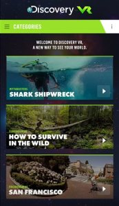 This images provided by Discovery Communications shows a screen shot of Discovery virtual reality network, Discovery VR, a fledgling service that is testing the limits and capabilities of the new immersive format.  (Discovery Communications via AP)