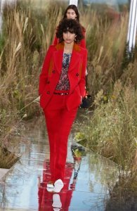 Fashion from the Coach Spring 2016 collection is modeled at the first ever, full women's ready-to-wear runway show during Fashion Week Tuesday, Sept. 15, 2015, in New York.  (AP Photo/Frank Franklin II)