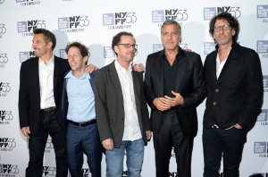 """Actor John Turturro, left, actor Tim Blake Nelson, director Ethan Coen, actor George Clooney and director Joel Coen attend a special 15th anniversary screening of, """"O Brother, Where Art Thou?"""", during the New York Film Festival at Alice Tully Hall on Tuesday, Sept. 29, 2015, in New York. (Photo by Evan Agostini/Invision/AP)"""