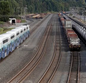 Trains carrying volatile crude oil
