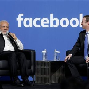 Modi touts social media, tech development in Facebook visit