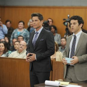 Lightweight comedy starring Rob Lowe and FredSavage