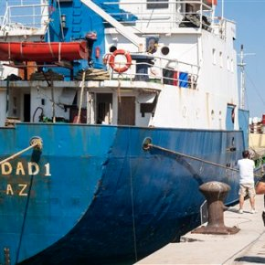 Kenyan authorities find undeclared weapons on foreignship
