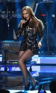 "FILE - In this Feb. 10, 2015 file photo, Beyonce performs at ""Stevie Wonder: Songs in the Key of Life - An All-Star Grammy Salute,"" in Los Angeles. Streaming service Tidal is putting together an all-star concert starring Beyonce, Prince and Jay Z on Oct. 20. (Photo by Chris Pizzello/Invision/AP, File)"