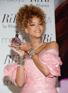 """Singer Rihanna attends the """"RiRi by Rihanna"""" fragrance launch at Macy's on Monday, Aug. 31, 2015, in the borough of Brooklyn, N.Y. (Photo by Evan Agostini/Invision/AP)"""