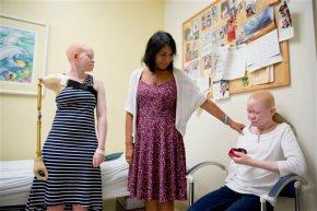 1st of Tanzanian albino kids with missing limbs goeshome
