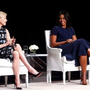 Michelle Obama: Girls, don't hold back inschool