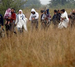The Latest: Hungary camerawoman 'sorry' for kickingrefugee