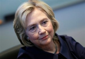 """In this Sept. 7, 2015, photo, Democratic presidential candidate Hillary Rodham Clinton speaks during an interview with The Associated Press in Cedar Rapids, Iowa. Clinton says her use of a private email account was a """"mistake,"""" adding that she is """"sorry"""" and takes responsibility for the decision. Clinton offers the apology in an interview with ABC News on Tuesday after declining to do so previously. On Sept. 4, she didn't apologize for using a private email system when asked directly by NBC News. In an interview with The Associated Press on Monday, she said an apology wasn't necessary because what she did was """"allowed"""" by the State Department. (AP Photo/Charlie Neibergall)"""