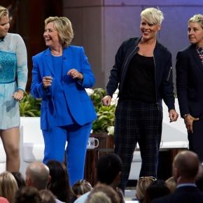 Clinton visits 'Ellen,' wins DeGeneres' vote ofapproval