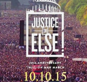 The Million Man March will be on Oct. 10 this year and marks the 20th anniversary of the march. (Photo from justiceorelse.com)
