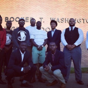 League of Extraordinary Men greets Norfolk students on first day ofschool