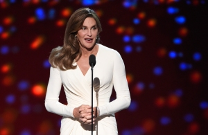 "FILE - In a  Wednesday, July 15, 2015 file photo, Caitlyn Jenner accepts the Arthur Ashe award for courage at the ESPY Awards at the Microsoft Theater, in Los Angeles. During a spirited golf outing on Thursday, Sept. 10, 2015, with ""Today"" anchor Matt Lauer, Jenner said she had had only one moment of doubt during her gender transition. Since then, she said has had no second thoughts _ ""no regrets whatsoever"" _ since making the transition. (Photo by Chris Pizzello/Invision/AP, File)"