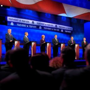 GOP candidates roll with the punches during thirddebate