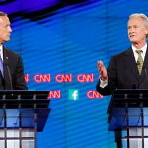 Lincoln Chafee's awkwardness on the national stage