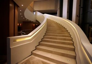 FILE - In this photo June 28, 2011, file photo, stairs run up the Trump Ocean Club International Hotel and Tower in Panama City, Panama. The tale of the 70-story waterfront tower along Panama Bay that was managed by the Trump empire offers insight into the Republican presidential candidate's business traits, and hints about the management style that might be expected from a Trump White House. (AP Photo/Arnulfo Franco, File)