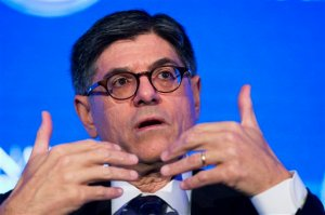 FILE - In this Oct. 2, 2015 file photo, Treasury Secretary Jacob Lew speaks in Washington. The Treasury Department on Thursday told Congress that it needs to act by Nov. 3 or the government will be dangerously close to being unable to pay all its bills.  (AP Photo/Manuel Balce Ceneta, File)