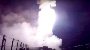 In this photo made from the footage taken from Russian Defense Ministry official web site, Wednesday, Oct. 7, 2015, a Russian navy ship launches a cruise missile in the Caspian Sea. Russia's Defense Minister Sergei Shoigu said fourRussian navy ships in the Caspian launched 26 cruise missiles at Islamic State targets in Syria.(Russian Defense Ministry Press Service via AP)