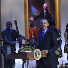 Obama celebrates American music with 'eclecticbunch