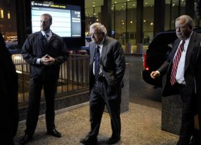 The Latest: Hastert arrives at court, set to pleadguilty