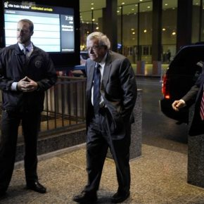 The Latest: Hastert arrives at court, set to plead guilty