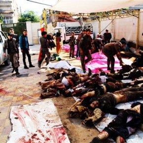 Attack kills dozens in Syria as talks begin inVienna