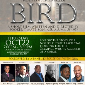 """""""Bird"""" and wrongful imprisonment discussion on Norfolk State campus Oct.22"""